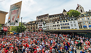 Liverpool fans in party mood in Basel city centre ahead of the UEFA Europa League Final against Sevilla.<br /> Picture by EXPA Pictures/Focus Images Ltd 07814482222<br /> 18/05/2016<br /> ***UK &amp; IRELAND ONLY***<br /> EXPA-FEI-160518-0017.JPG