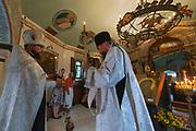 Orthodox prayer ceremony,Kiev