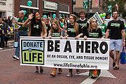 Donate Life at Ohio University Homecoming Parade on Court Street on October 12, 2013.