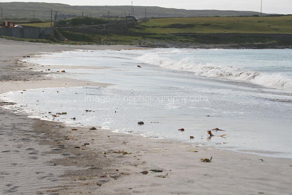 beach on the Aran Islands County Galway Ireland