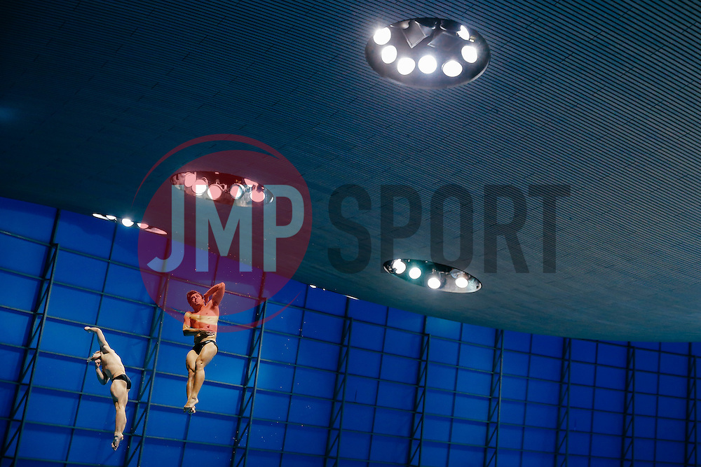Jack Laugher and Chris Mears of Great Britain compete in the Mens 3m Synchronised Springboard going on to win the Gold Medal - Mandatory byline: Rogan Thomson/JMP - 13/05/2016 - DIVING - London Aquatics Centre - Stratford, London, England - LEN European Aquatics Championships 2016 Day 5.