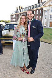 Alex & Emma Roupell at the Concours d'éléphant in aid of Elephant Family held at the Royal Hospital Chelsea, London, England. 28 June 2018.