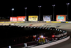 March 1, 2019 - Las Vegas, Nevada, U.S. - LAS VEGAS, NV - MARCH 01: A general view of racing in turn 2 during the Gander Outdoors Truck Series Strat 200 race on March 1, 2019, at Las Vegas Motor Speedway in Las Vegas, NV. (Photo by David Allio/Icon Sportswire) (Credit Image: © David Allio/Icon SMI via ZUMA Press)