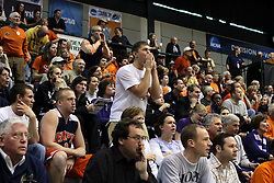 20 March 2010: Several Hope fans express their dismay at a call by the officials. The Flying Dutch of Hope College fall to the Bears of Washington University 65-59 in the Championship Game of the Division 3 Women's NCAA Basketball Championship the at the Shirk Center at Illinois Wesleyan in Bloomington Illinois.