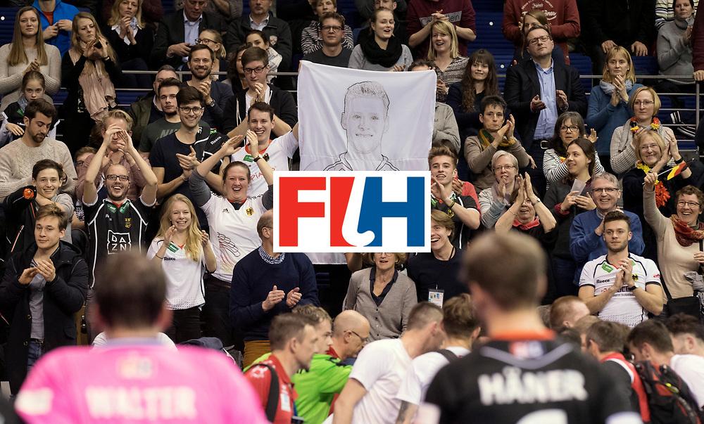 BERLIN - Indoor Hockey World Cup<br /> Men: Poland - Germany<br /> foto: German fans.<br /> WORLDSPORTPICS COPYRIGHT FRANK UIJLENBROEK