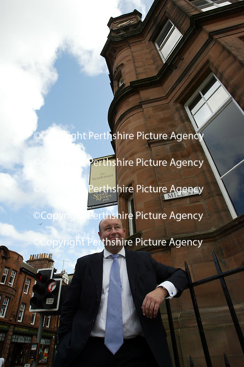 Opening of the Sandeman Pub, Perth. Part of the Barracuda Group. Pictured Chief Executive Mark McQuater<br /><br />Picture by Graeme Hart.<br />Copyright Perthshire Picture Agency<br />Tel: 01738 623350  Mobile: 07990 594431