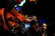072410-Evergreen, COLORADO-jazzfest-Mike McCullough plays guitar with the After Midnight Jazz Band during the 2010 Evergreen Jazz Fest Saturday, July 24, 2010 at the Little Bear..Photo By Matthew Jonas/Evergreen Newspapers/Photo Editor