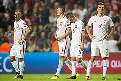 September 1, 2017 - Copenhagen, Denmark - The Polish players disappointed during the FIFA World Cup 2018 Qualifying Round between Denmark and Poland at Telia Parken Stadium in Copenhagen, Denmark on September 1, 2017  (Credit Image: © Andrew Surma/NurPhoto via ZUMA Press)