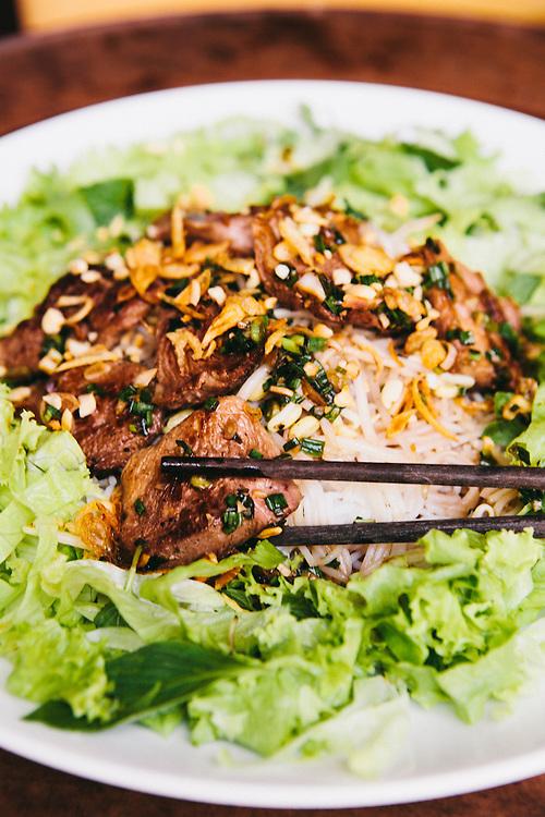 Duck vermicelli at Little Menu restuarnat, Hoi An, Vietnam