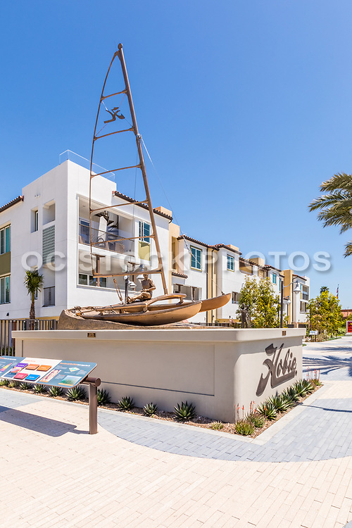 Legendary Surf Sculptures at Waterman's Plaza of the New South Cove Community on PCH