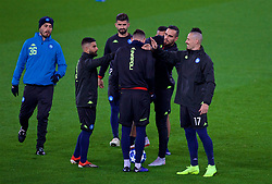 LIVERPOOL, ENGLAND - Monday, December 10, 2018: SSC Napoli's Marek Hamšík (R) during a training session at Anfield ahead of the UEFA Champions League Group C match between Liverpool FC and SSC Napoli. (Pic by David Rawcliffe/Propaganda)
