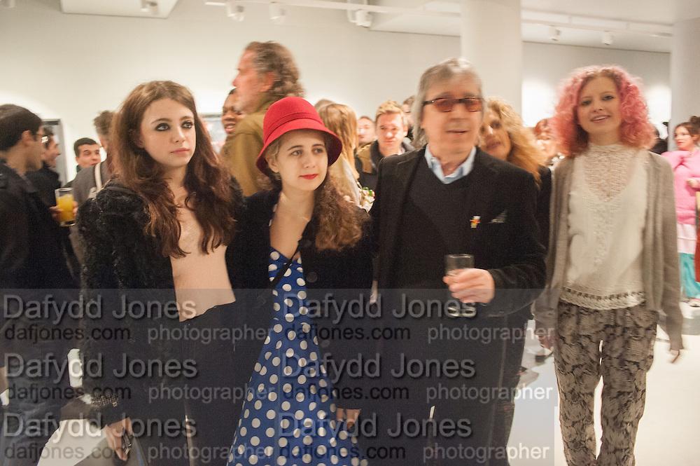 MATILDA WYMAN;KATIE WYMAN,;  BILL WYMAN; SUZANNE WYMAN;  JESSY WYMAN; , BILL WYMAN - REWORKED' , Photographs by Bill Wyman and reworks by Gerald Scarfe, Pam Glew, Dale Marshall, Penny and James Mylne, Rook & Raven Gallery: 7-8 Rathbone Place, London. 26 February 2013