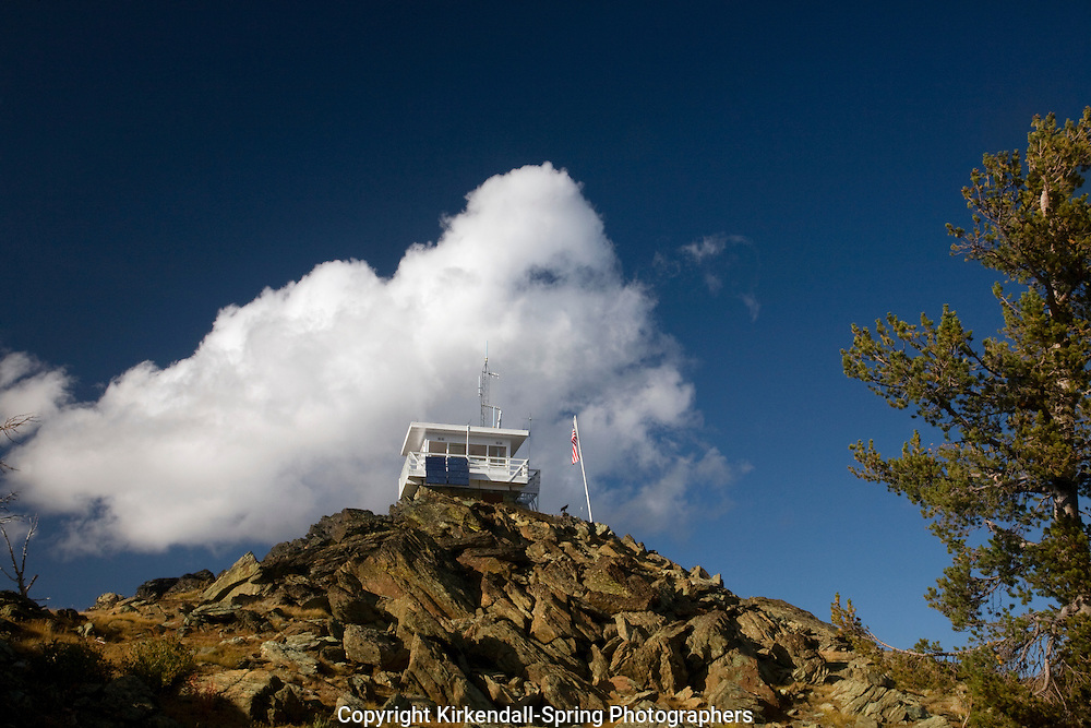 ID00108-00...IDAHO - Heavens Gate Fire Lookout above Windy Saddle in the Wallowa-Whitman National Forest.
