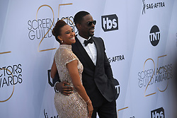January 27, 2019 - Los Angeles, California, U.S - RYAN MICHELLE BATHE AND STERLING K. BROWN during silver carpet arrivals for the 25th Annual Screen Actors Guild Awards, held at The Shrine Expo Hall. (Credit Image: © Kevin Sullivan via ZUMA Wire)