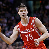 06 March 2012: Houston Rockets forward Chandler Parsons (25) passes the ball during the Boston Celtics 97-92 (OT) victory over the Houston Rockets at the TD Garden, Boston, Massachusetts, USA.