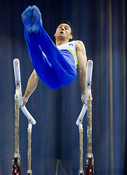 Alen Dimic of Slovenia competes during Qualifications day of Artistic Gymnastics World Cup Ljubljana, on April 26, 2013, in Hala Tivoli, Ljubljana, Slovenia. (Photo By Vid Ponikvar / Sportida.com)