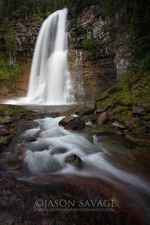 Virginia Falls in Glacier National Park.