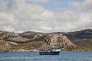 Bessakerfjellet vindpark på i Roan i Sør-Trøndelag. Den ble bygget juli til november 2007 med tolv vindmøller, og tretten til ble bygget sommeren 2008. Offisiell åpning var 3. oktober 2008. Vindparken eies og drives av TrønderEnergi. <br /> Vindturbinene er fra  tyske Enercon GmbH og har en effekt på 2,3 MW, 64,5 m navhøyde og 71 m med rotorblader. Med 57,5 MW var vindparken nest størst i Norge pr. 2008, årlig produksjon er 176 GWh. 12 kilometer vei har blitt bygd på fjellet for å betjene vindparken, som er fordelt over et område på 3,5 km². (Wikip)