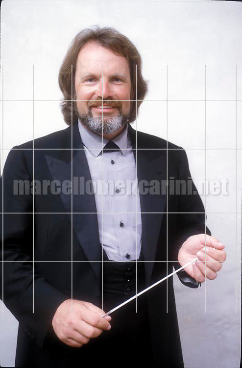 Macerata, 1991, Austrian director Gustav Kuhn / Macerata, 1991. Il direttore d'orchestra Gustav Kuhn - © Marcello Mencarini