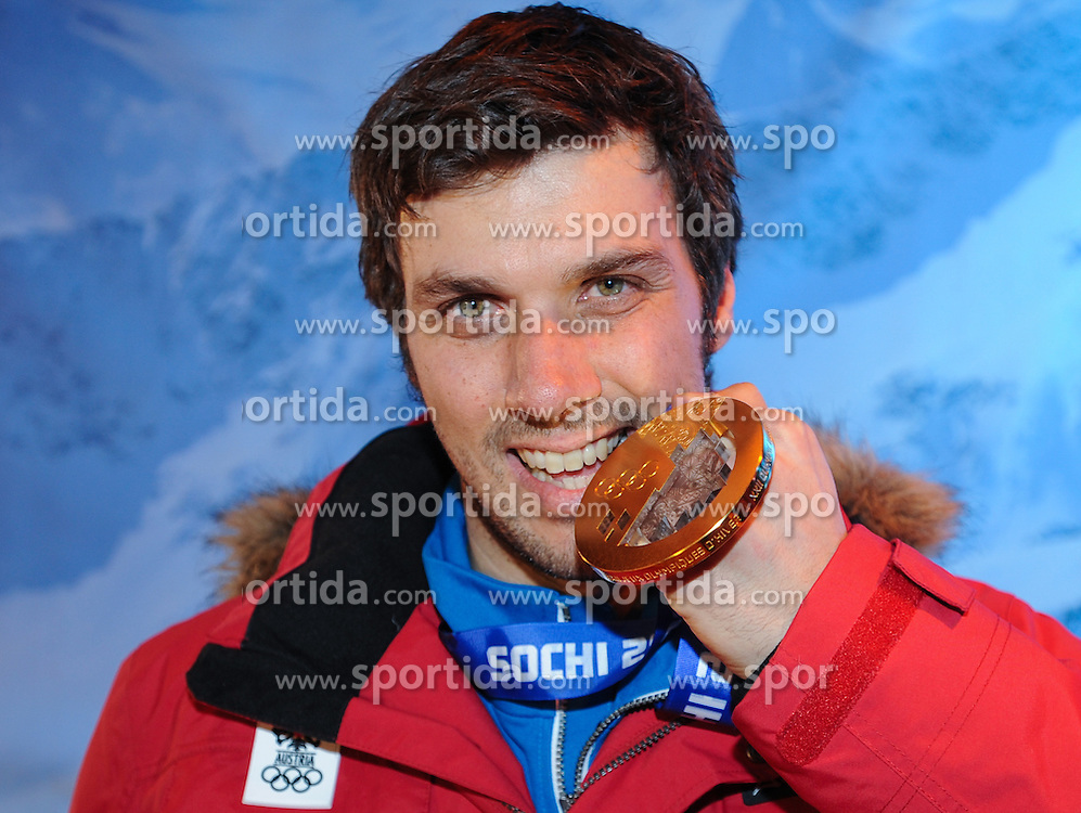 22.02.2014, Austria Tirol House, Sochi, RUS, Sochi 2014, Medaillenfeier, im Bild Olympiasieger Mario Matt (AUT) // olympic Champion Mario Matt of Austria during the medal party in Austria house Tyrol at the Olympic Winter Games 'Sochi 2014' at the Austria Tirol House in Krasnaya Polyana, Russia on 2014/02/22. EXPA Pictures © 2014, PhotoCredit: EXPA/ Erich Spiess