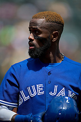 OAKLAND, CA - JULY 23:  Jose Reyes #7 of the Toronto Blue Jays stands on deck before an at bat against the Oakland Athletics during the first inning at O.co Coliseum on July 23, 2015 in Oakland, California. The Toronto Blue Jays defeated the Oakland Athletics 5-2. (Photo by Jason O. Watson/Getty Images) *** Local Caption *** Jose Reyes