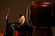 "Members of Portland Taiko perform the program ""Insatiable"" at Lincoln Hall, Portland State University, Portland, Oregon"