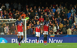 November 5, 2019, Valencia, Valencia, Spain: Losc Lille reacts after goal of Valencia during the during the UEFA Champions League group H match between Valencia CF and Losc Lille at Estadio de Mestalla on November 5, 2019 in Valencia, Spain (Credit Image: © AFP7 via ZUMA Wire)