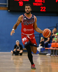 Lewis Champion of Bristol Flyers carries the ball forward - Photo mandatory by-line: Arron Gent/JMP - 28/09/2019 - BASKETBALL - Crystal Palace National Sports Centre - London, England - London City Royals v Bristol Flyers - British Basketball League Cup