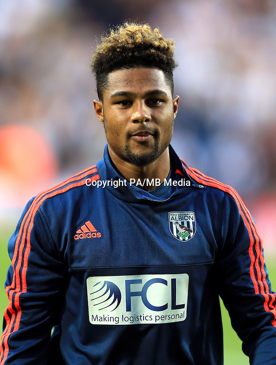 West Bromwich Albion's new signing Serge Gnabry before the game