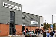 The main entrance to the Simple digital Arena ahead of the Ladbrokes Scottish Premiership match between St Mirren and Hibernian at the Simple Digital Arena, Paisley, Scotland on 29th September 2018.