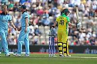 Cricket - 2019 ICC Cricket World Cup warm ups - England vs. Australia<br /> <br /> Steve Smith of Australia signals to the pavilion after scoring his fifty during the cricket world cup warm up match at the Ageas Bowl Southampton England<br /> <br /> COLORSPORT/SHAUN BOGGUST