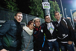 Kevin Kampl of Slovenia with fans after the FIFA World Cup 2014 Group E qualification match between Slovenia and Norway on October 11, 2013 in Stadium Ljudski vrt, Maribor, Slovenia. (Photo by Urban Urbanc / Sportida)