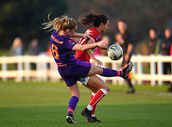Sophie Bradley-Auckland of Liverpool Women competes with Rosella Ayane of Bristol City - Mandatory by-line: Paul Knight/JMP - 17/11/2018 - FOOTBALL - Stoke Gifford Stadium - Bristol, England - Bristol City Women v Liverpool Women - FA Women's Super League 1