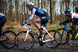 Ellen van Dijk (NED) crosses the Exloo cobbles at Ronde van Drenthe 2019, a 165.7 km road race from Zuidwolde to Hoogeveen, Netherlands on March 17, 2019. Photo by Sean Robinson/velofocus.com