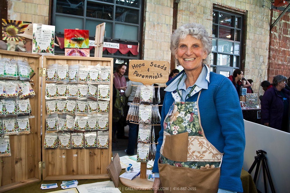 Heirloom and organic seeds for sale and trade at Toronto's annual gardening event, Seedy Saturday at Wychwood Barns on Sunday February 21, 2010.