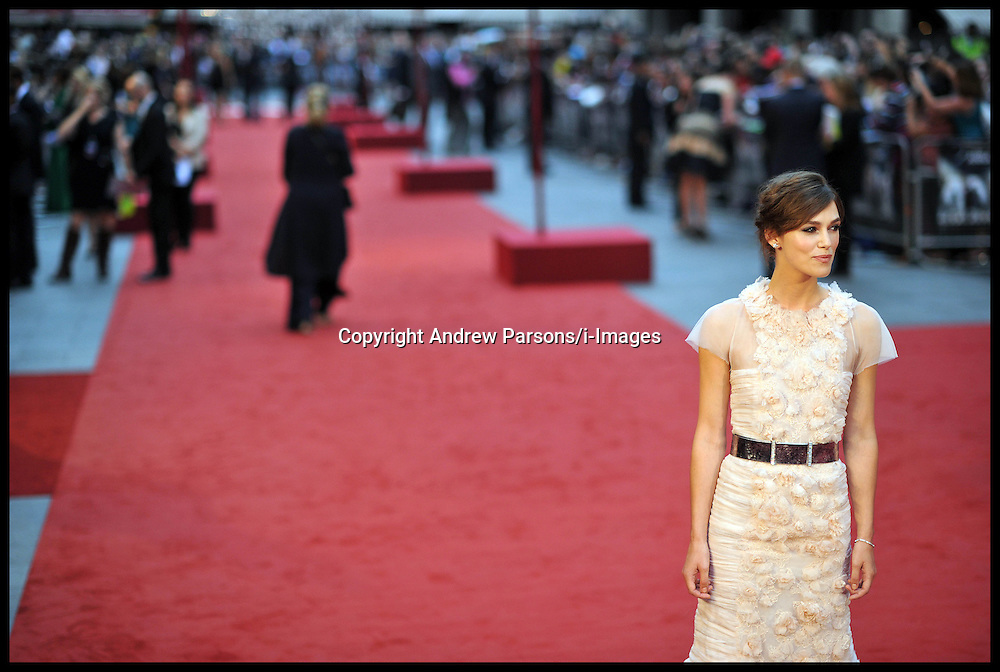 Keira Knightley arrives for the - UK film premiere of Anna Karenina, London, Tuesday September 4, 2012 Photo Andrew Parsons/i-Images..All Rights Reserved ©Andrew Parsons/i-Images