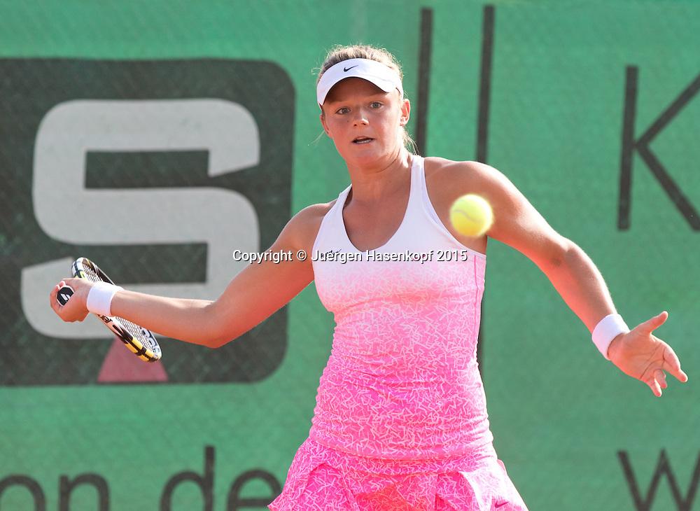 Anna Zaja (GER)<br /> <br /> Tennis - Hechingen Ladies Open - ITF 25.000 -  TC Hechingen - Hechingen -  - Germany - 13 August 2015. <br /> &copy; Juergen Hasenkopf