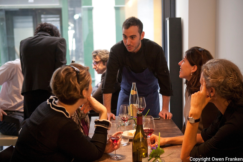 Daniel Rose' restaurant Spring, Paris, at lunch -..Daniel Rose..Photograph by Owen Franken