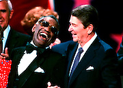 President Ronald Reagan and singer Ray Charles at the Republican National Convention in Dallas, Texas.1984©Ed Hille / Picturedesk.net
