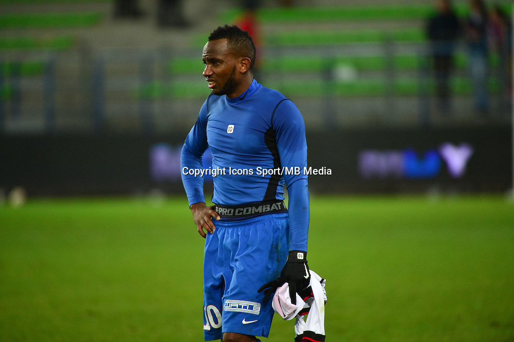 Deception Lenny NANGIS - 05.12.2014 - Caen / Nice - 17eme journee de Ligue 1 -<br />