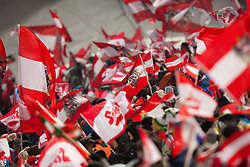 06.01.2012, Paul Ausserleitner Schanze, Bischofshofen, AUT, 60. Vierschanzentournee, FIS Ski Sprung Weltcup, 1. Wertungssprung, im Bild Feature Fahnenmeer // feature Flags of Austria during 1st Round of 60th Four-Hills-Tournament FIS World Cup Ski Jumping at Paul Ausserleitner Schanze, Bischofshofen, Austria on 2012/01/06. EXPA Pictures © 2012, PhotoCredit: EXPA/ Johann Groder