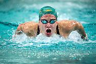 Madeline Groves lors de l'épreuve du 200m papillon pendant les Championnats du monde de natation, le 27 aout à Chartres.