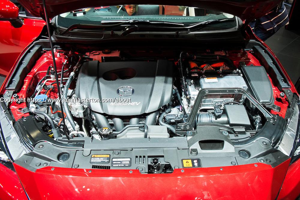 Mazda Axela (mazda 3) hybrid car at Tokyo Motor Show 2013 in Japan