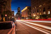 Morning on California Street, Downtown San Francisco