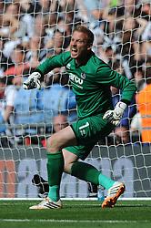 Bristol Rovers' Steve Mildenhall celebrates as Grimsby Town miss a penalty  - Photo mandatory by-line: Dougie Allward/JMP - Mobile: 07966 386802 - 17/05/2015 - SPORT - football - London - Wembley Stadium - Bristol Rovers v Grimsby Town - Vanarama Conference Football