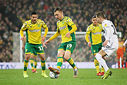 Norwich City midfielder Tom Trybull (19) during the EFL Sky Bet Championship match between Norwich City and Swansea City at Carrow Road, Norwich, England on 8 March 2019.