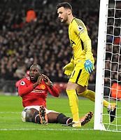 Football - 2017 / 2018 Premier League - Tottenham Hotspur vs. Manchester United<br /> <br /> Romelu Lukaku of Man Utd misses a good chance, at Wembley Stadium.<br /> <br /> COLORSPORT/ANDREW COWIE