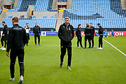 Notts County forward Jonathan Stead (30) and his team mates inspect the pitch during the EFL Sky Bet League 2 match between Coventry City and Notts County at the Ricoh Arena, Coventry, England on 12 May 2018. Picture by Simon Davies.