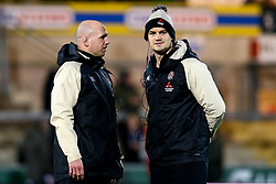 England U20 coaches Mark Hopley, and James Scaysbrook - Mandatory by-line: Robbie Stephenson/JMP - 15/03/2019 - RUGBY - Franklin's Gardens - Northampton, England - England U20 v Scotland U20 - Six Nations U20
