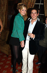 LADY ELOISE ANSON and LUIS MIGUEL HOWARD at a private view of jewellery designed and made by Luis Miguel Howard held at 30 Pavillion Road, London on 27th October 2004.<br /><br />NON EXCLUSIVE - WORLD RIGHTS